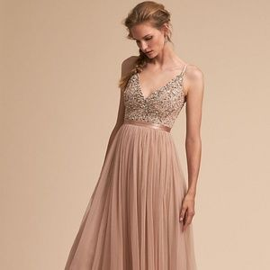 Bhldn Avery dress in Blush